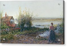 Bawdsey Ferry Acrylic Print by George Henry Boughton