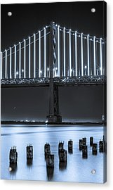 Bay Bridge 2 In Blue Acrylic Print
