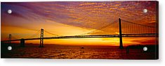 Bay Bridge At Sunrise, San Francisco Acrylic Print by Panoramic Images