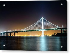Bay Bridge East By Night 1 Acrylic Print