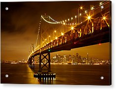 Bay Bridge Acrylic Print by Evgeny Vasenev
