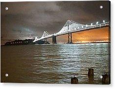 Bay Bridge Night Acrylic Print