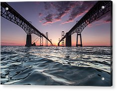 Bay Bridge Twilight Acrylic Print