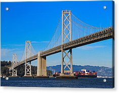 Bay Bridge With Apl Houston Acrylic Print