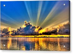 Bay Harbor Sunrise Acrylic Print by William Wetmore