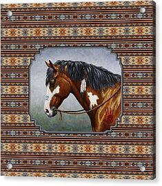 Bay Native American War Horse Southwest Acrylic Print