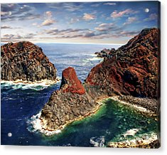 Bay Of Ponta Da Barca Acrylic Print by Anthony Dezenzio