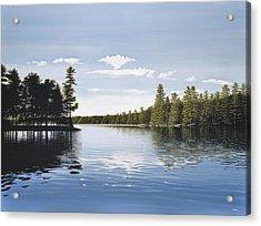 Bay On Lake Muskoka Acrylic Print by Kenneth M  Kirsch