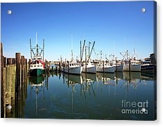 Bay Parking At Long Beach Island Acrylic Print by John Rizzuto