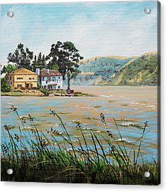 Bay Scenery With Houses Acrylic Print