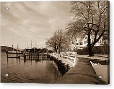 Bay Street In Winter - Mystic Ct Acrylic Print