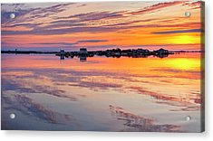 Bay Sunrise Acrylic Print by Mike Lang