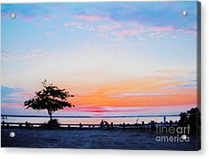Acrylic Print featuring the photograph Bay Sunset by Susan Carella