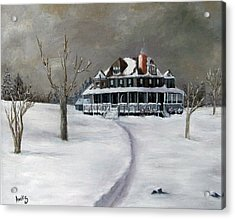 Bayberry Cottage Acrylic Print by Amelie Gates