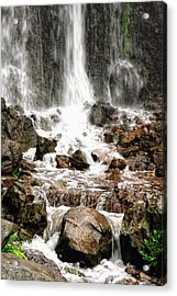 Acrylic Print featuring the photograph Bayfront Park Waterfall by Lars Lentz
