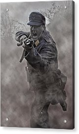 Bayonet Warrior Acrylic Print by Mark H Roberts
