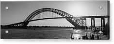 Bayonne Bridge Panorama Bw Acrylic Print