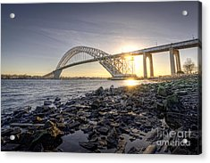 Bayonne Bridge Sunset Acrylic Print