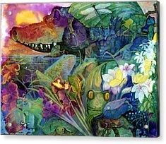 Bayou Magic Acrylic Print by Valerie Aune