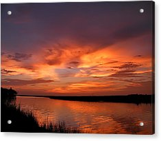 Bayou Sunset Acrylic Print by Brian Wright