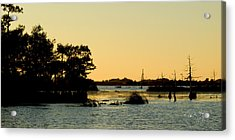 Bayou Sunset Venice Louisiana Acrylic Print