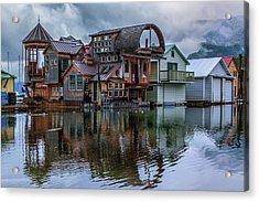 Bayview Houseboat Acrylic Print