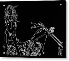 Acrylic Print featuring the drawing Bb Four by Mayhem Mediums