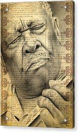 Bb King Drawing Acrylic Print