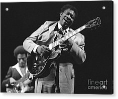 Bb King In Love With Lucille Acrylic Print by Philippe Taka