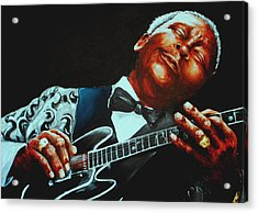 Bb King Of The Blues Acrylic Print by Richard Klingbeil