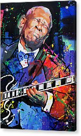 Bb King Portrait Acrylic Print