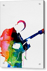 B.b. King Watercolor Acrylic Print by Naxart Studio