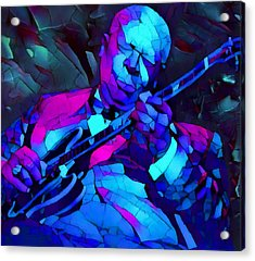 Bb Sings The Blues Acrylic Print by Dan Sproul