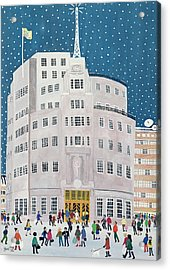 Bbc's Broadcasting House  Acrylic Print by Judy Joel