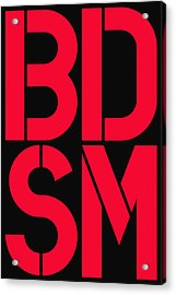 Bdsm Black And Red Acrylic Print