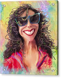 Be Happy Acrylic Print by Andrea Auletta