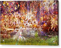 Acrylic Print featuring the digital art Be Still And Know by Dolores Develde