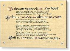 Be Thou My Vision Acrylic Print