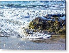 Wave Around A Rock Acrylic Print