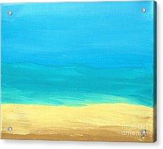 Beach Abstract Acrylic Print by D Hackett