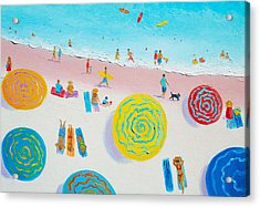 Beach Art - Beach Sport Acrylic Print by Jan Matson