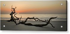 Beach Art Cropped Acrylic Print