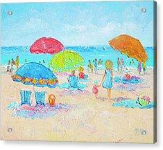 Beach Art - Relax Acrylic Print by Jan Matson
