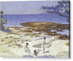Beach At Cabasson Acrylic Print by Henri-Edmond Cross