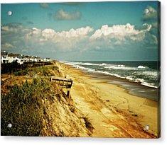 Beach At Corolla Acrylic Print