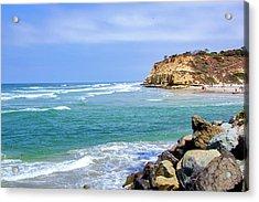 Beach At Del Mar, California Acrylic Print