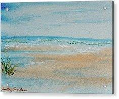 Beach At High Tide Acrylic Print