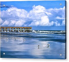 Beach At Isle Of Palms Acrylic Print