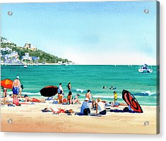 Beach At Roses, Spain Acrylic Print