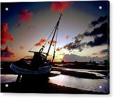 Beach At Sunset Acrylic Print